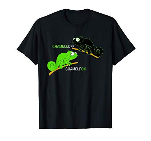 Chameleoff Chamäleon Eidechse Witz - Lustige Reptilien T-Shirt