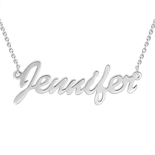 VERSUSWOLF Custom Name Necklace 925 Sterling Silver Personalized for Women