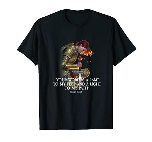 Tu palabra es una lámpara para mis pies Salmo 119:105 Camiseta