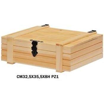 misure interne cm 21,5x35,5x10,5H Scatola porta bottiglie cassetta di legno per 2 bottiglie