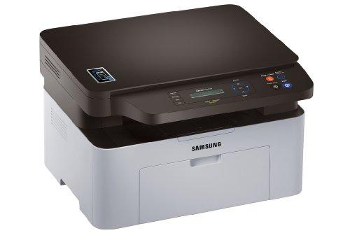Samsung SL-M2070W - Impresora multifunción monocromo (imprime, copia y escanea, 128 MB de memoria, resolución escaneo de 1200 ppp, imprime desde el móvil)