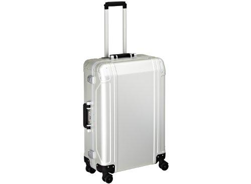 Zero Halliburton Geo Aluminum 26 Inch 4 Wheel Spinner Travel Case, Silver, One Size