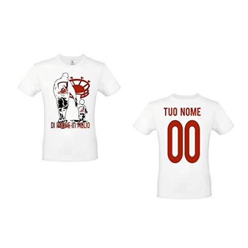 MAESTRI DEL CALCIO T-Shirt Maglietta di Padre in Figlio Stadio Torino Granata Maglia Personalizzata Personalizzabile Tuo Nome Adulto Bambino (belotti, pulici, graziani)