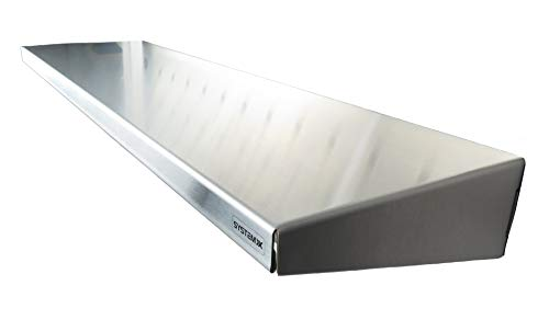 System X SVS 352 Edelstahlregal für Stecktafel, Länge 63,5 cm, Breite 17,8 cm