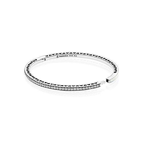 Pandora Strahlende Herzen Damen Armreif 925 Sterlingsilber 16 cm