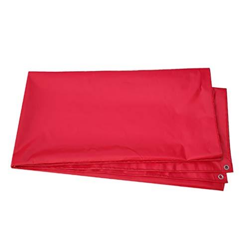 HG Tarps zonnezeil PVC regendoek-zeildoek verdikkingsplannen-driewieler-luifelstof - rood 500g / M2