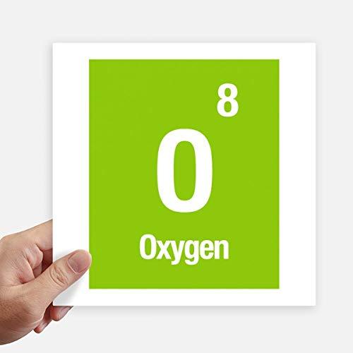 DIYthinker Química de Oxígeno Elemento Ciencia calcomanía cuadradas Personalizadas 20cm Pared Maleta...