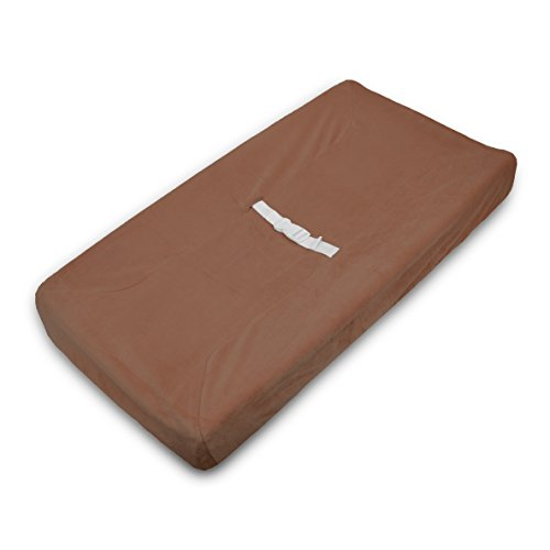 TL Care Heavenly Soft chenille Fitted Contoured Changing Pad Cover, Chocolat by TL Care