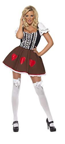 Smiffys, Fever, dames Heidi kostuum, jurk, maat: S, 38728