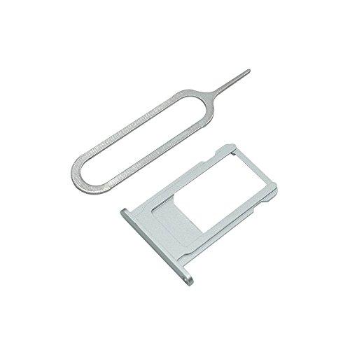 Cemobile für iPhone 6S SIM Karten Halter Slot Tray Holder Ersatz + SIM Karten öffnen Nadel (Silber)