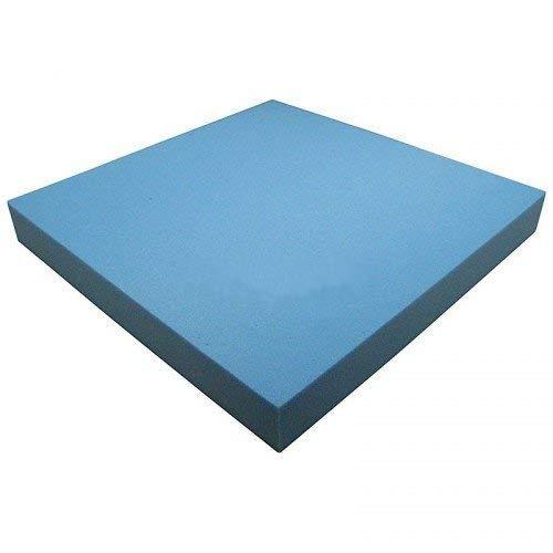 Heiro Schaumstoffplatte Blau 50x50cm Schaumstoff Kissen Schaumstoffpolster - extra formstabil - 6cm dick