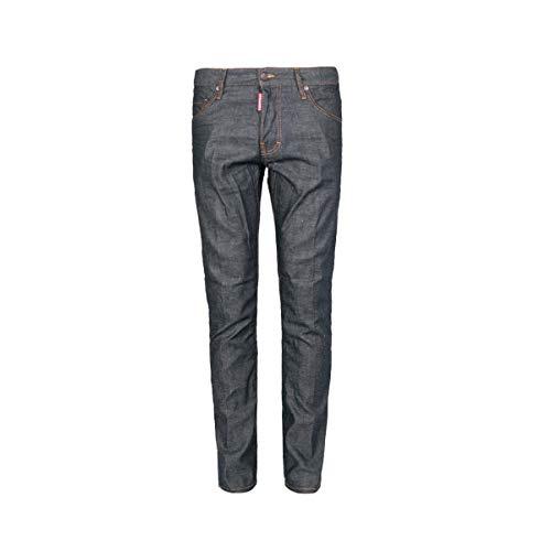 Dsquared² Herren Jeans Slim Leg Skater S74LB0152, Farbe: Dunkelblau, Größe: 52