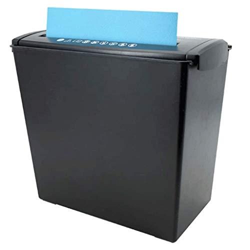 HGFTY Corte Transversal del Papel y la Tarjeta de crédito Shredder con Cerradura de Seguridad, CD y la Tarjeta de crédito del Ministerio del Interior Shredder