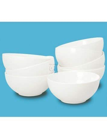Thompson Pottery 8 Piece Basic Soup Bowls, White