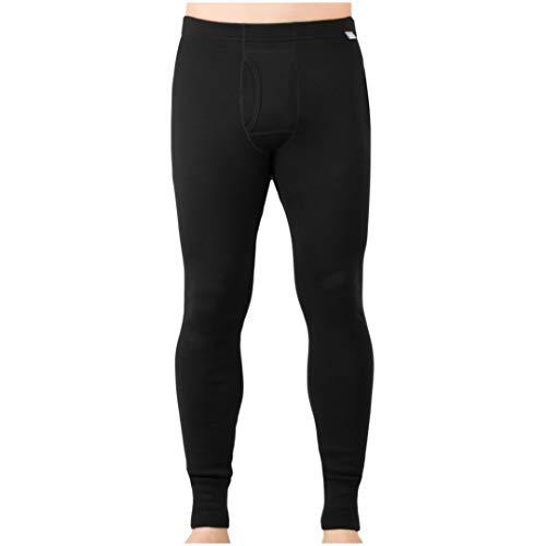 MERIWOOL Mens Base Layer 100% Merino Wool Heavyweight 400g Thermal Pants Black