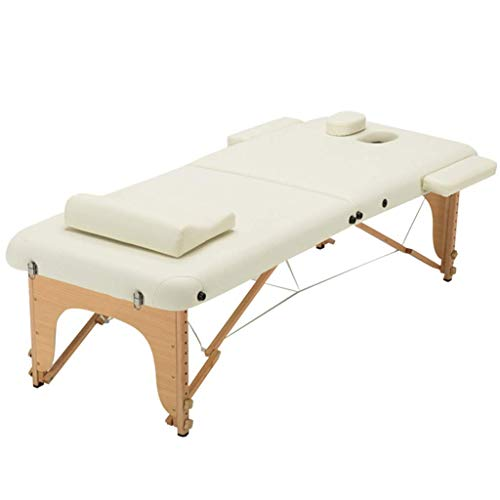 RTYUIO Massage Tables Foldable Massage Bed Portable Home Portable Beauty Bed Wood Adjustable Tattoo Couch Massage Relaxation (Color : C, Size : 186 * 70 * 48-75 cm)