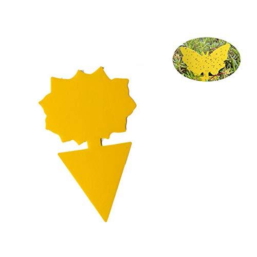 DYG Klebefallen, Fliegen Fallen für Fruchtfliege, Pilz Gnats, Blattläuse, andere Fliegende Insekten, Doppelseitiger Gelbe klebrige Blätter 20 PC,B