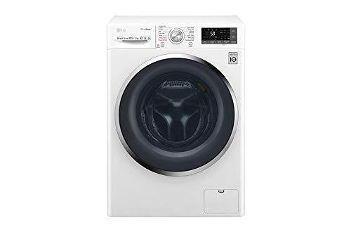LG F4J8JH2W lavadora Carga frontal Independiente Blanco A - Lavadora-secadora (Carga frontal, Independiente, Blanco, Izquierda, Botones, Giratorio, Acero inoxidable)