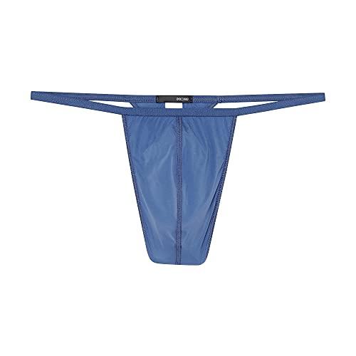 HOM Herren Plume G-String Unterwäsche, Blau Jeans, XL