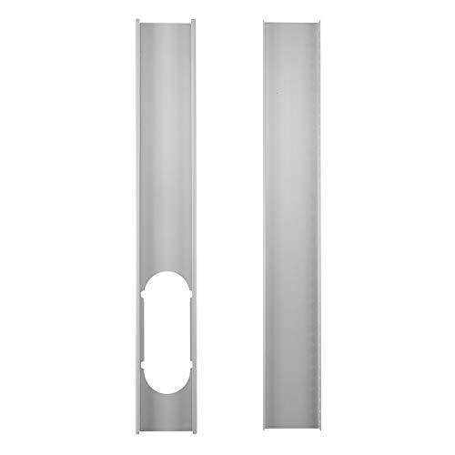 QLING Kit Deslizamiento Ventana Placa 2 Piezas Manguera Escape Conector Ajustable para Aire Acondicionado Accesorios Placa portátil Inicio Herramienta Mano o Adaptador ventilación Durable