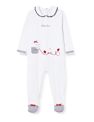 Chicco Baby-Mädchen Tutina Bimba Con Apertura Sul Patello Playsuit, Weiß (Bianco 033), 50 (Herstellergröße: 056)