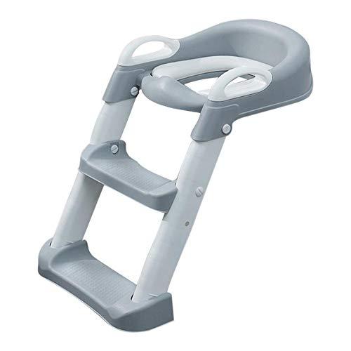 Toilettentrainer mit Treppe, Töpfchentisch Kleinkind Toilettensitz mit Tritthocker Leiter, rutschfeste Töpfchentoilette für Kinder Jungen Mädchen, 38x22x39cm