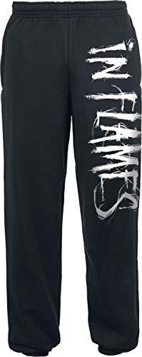 In Flames Logo Männer Trainingshose schwarz M 80% Baumwolle, 20% Polyester Band-Merch, Bands