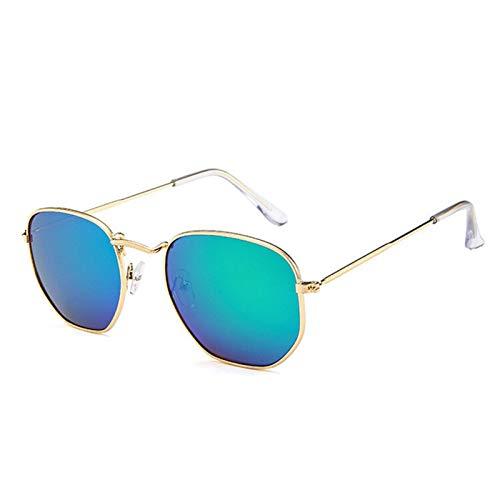 SCAYK 2021 Vintage Metal Gafas de Sol Hexagonales Mujeres/Hombres Diseñador de la Marca Retro Conducción Espejo Gafas de Sol UV400 Gafas de Sol Gafas de Ojos Moda Gafas de Sol Mujeres