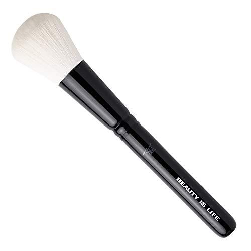 Beauty Is Life Puderpinsel Puder Pinsel Powder Brush Rund Vegan Schwarz Weiß 23 cm