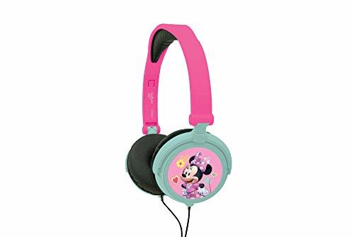 Lexibook Disney Junior Minnie Mouse Casque audio stéréo, puissance sonore limitée, pliable et ajustable, bleu/blanc, HP010MN.