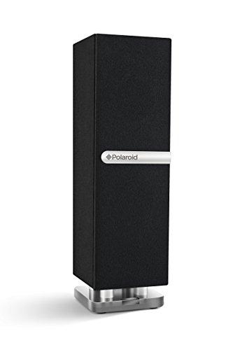 Polaroid PBT3001BK Mini Bluetooth Speaker, Slim, Single-Tower Design (Black)