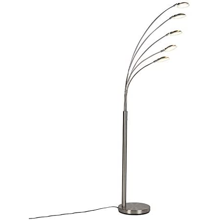 QAZQA sixties - LED Dimmable Lampadaire Design variateur inclus - 5 lumière - H 1800 mm - Acier - Design - Éclairage intérieur - Salon | Chambre