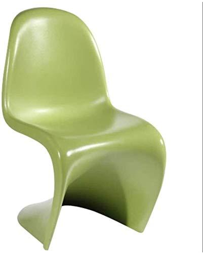 Diseño de Muebles Silla Transparente Mesa de Comedor Silla Silla de plástico Simple Silla de café de Ocio Creativo para el hogar y la Oficina (Color : Green)