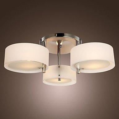 BROWARD - Lampadario moderno in acrilico in cromo con 3 lampadine