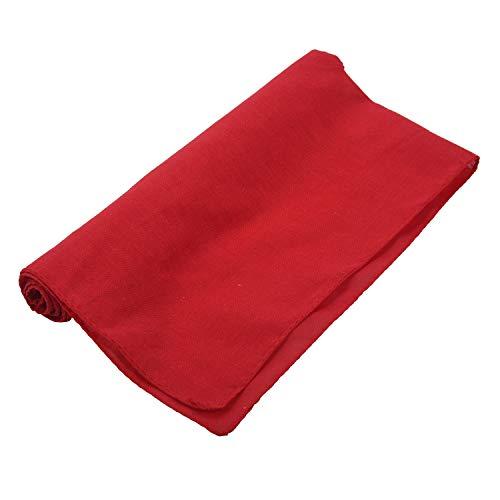 Wivarra Fancy Plain Bandana 100% Cotton Head Neck Wrist Wrap Neckerchief Scarf 12 Color Color: Rojo