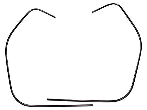 Kantenschutz/Schlitzrohr Beinschild links + rechts, schwarz für Vespa GT, GTS, GTV 125-300ccm