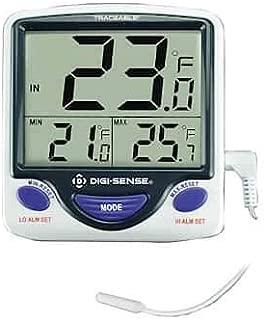 Digi-Sense Calibrated Jumbo Refrigerator/Freezer Digital Thermometer, Wire Probe
