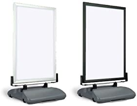 MDI Slim WindMaster Curb Sign Stand with BLACK frame
