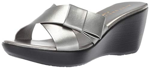 Athena Alexander Women's Striker Sandal, Pewter, 11 M US