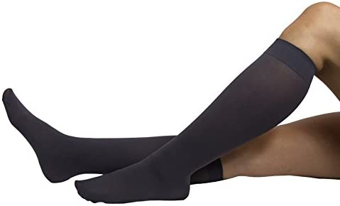 NU & NU Legwear Girls Trouser Socks with Comfort Band Size 9-11 Three Pairs Pack