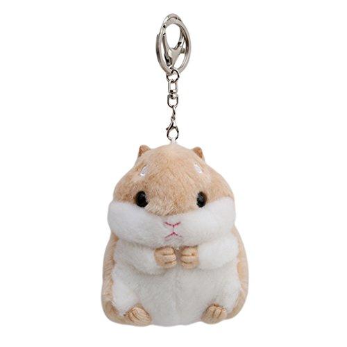 CanViUK Schlüsselanhänger mit Hamster-Anhänger, Plüschtiere, für Taschen, Handy, Handtasche, Khaki