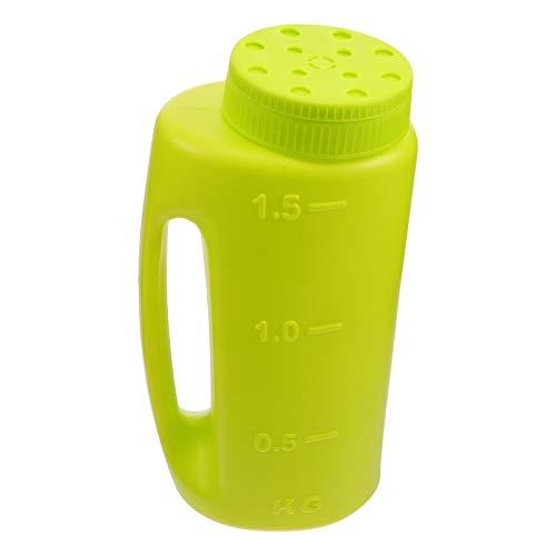 YARNOW 2L Spreader Plastica Seminatrice Shaker Sale Dispenser Bottiglia per Prato all' Aperto Patio Giardino Fertilizzante Ice Melt Strumento Verde