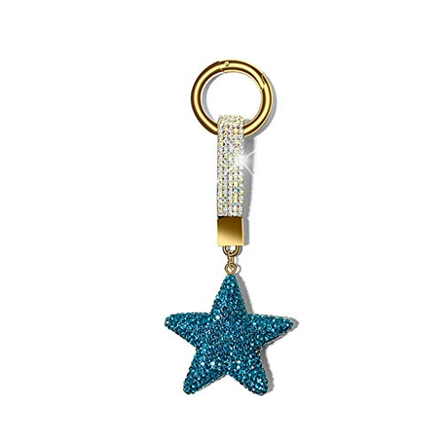 FOLA Llavero de la Estrella Llavero de la Llavero de la señora del Encanto del Encanto Lindo Llavero para Novia o Novio llaveros Accesorios para Mujeres (Color : Blue)