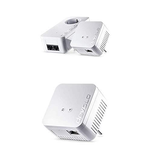 devolo dLAN 550 WiFi Starter Kit Powerline + Ergänzungsadapter