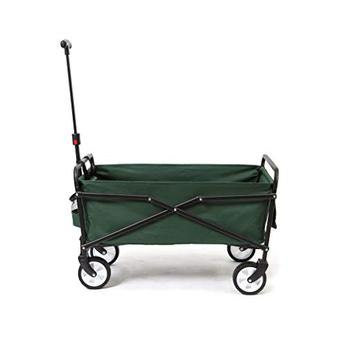 Seina Heavy Duty Compact Folding 150 Pound Capacity Outdoor Utility Cart, Green