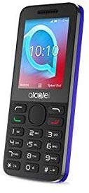 Alcatel 2038x Simlock Free 2G/3G Mobile Phone with Colour Screen, FM Radio, Torch, Camera. Will Work with Any SIM Card Worldwide. (Blue)