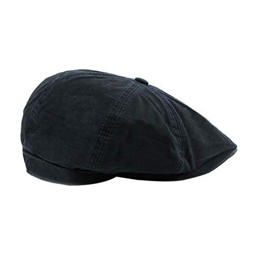 ZAVAREA Chapeau Octogonal Femmes Hommes Coton Harden Brim Style Britannique Casquette Réglable Head Wear Sportswear