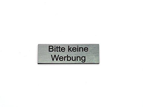 Schilderino Briefkastenschild Türschild individuelle Gravur Name   selbstklebend - personalisiert   Kunststoff - Plastik   viele Farben und Größen (Bitte keine Werbung, Silber-Schwarz)