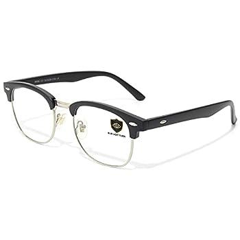 Livhò Blue Light Blocking Glasses Computer Gaming Glasses Anti Eye Strain/Filter Ray Lens Sleep Better for Women Men  Matte Black