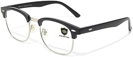 Livhò Blue Light Blocking Glasses, Computer Gaming Glasses, Anti Eye Strain/Filter Ray Lens, Sleep Better for Women Men (Matte Black)